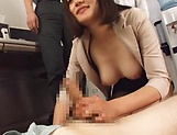 Sensual handjob session involving hot milf Suzuki Risa picture 15