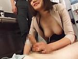 Sweet Suzuki Risa  in a spicy threesome hardcore scene picture 15
