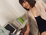 Sensual handjob session involving hot milf Suzuki Risa