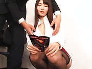 Bubbly Shiina Ririko makes a dude get a cumshot