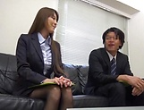 Office hottie gets her wet twat penetrated by a massive cock picture 12
