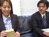 Office hottie gets her wet twat penetrated by a massive cock picture 15
