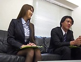 Office hottie gets her wet twat penetrated by a massive cock