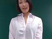 Alluring office lady Eri Itou moans as she is nailed