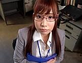 Sexy honey Hagesawa Rui in hardcore pounding scene indoors picture 13