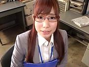 Sexy honey Hagesawa Rui in hardcore pounding scene indoors