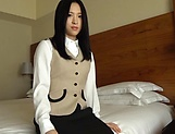 Japanese brunette is having hardcore sex picture 13