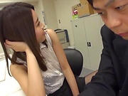 Spicy office sex for delicious Yoshida Hana
