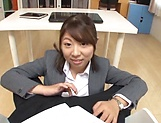 Sexy ass office lady pussy fucked and made to swallow picture 12