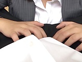 Sexy ass office lady pussy fucked and made to swallow picture 13