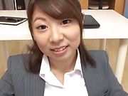 Sexy ass office lady pussy fucked and made to swallow