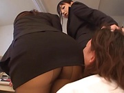 Claire Hatsumi and Yuki Kami in raunchy threesome session