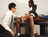 Mature milf Suzuki Risa getting freaky with a workmate picture 13