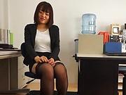 Suzuki Risa in kinky office hardcore fuck