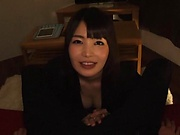Shiina Ririko ,takes a messy cum in mouth