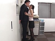 Japanese milf had sex while at work