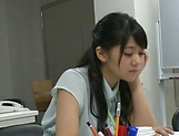 Amateur Asian office honey gives a steamy blowjob picture 11