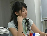 Amateur Asian office honey gives a steamy blowjob picture 12