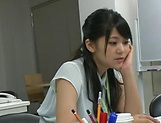 Amateur Asian office honey gives a steamy blowjob picture 13