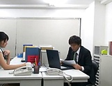 Amateur Asian office honey gives a steamy blowjob picture 14