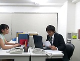 Amateur Asian office honey gives a steamy blowjob picture 2