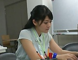 Amateur Asian office honey gives a steamy blowjob