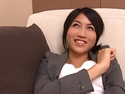 Office lady got a massive facial cumshot