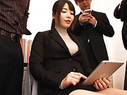 Bubbly office lady Shiina Ririko gets naughty