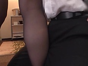 Hot office lady has amazing, soft feet