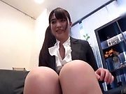 Japanese lady in office suit got fucked