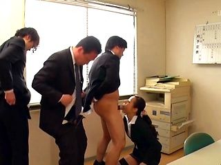 Spicy love Morishita Mio enjoys getting freaky in the office