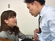 Big tits Takaoka Sumire gets her wet cunt rammed hard