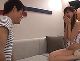 Koike Nao enjoys blowing a stuff cock