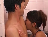 Stunning An Arisawa gives a hot blowjob in the bath picture 13