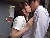 Lovely school going Suzumura Airi sucks cock hard picture 12
