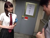 Lovely school going Suzumura Airi sucks cock hard picture 7