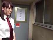Schoolgirl beauty Suzumura Airi gives a kinky head