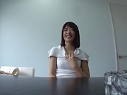 Small tits hottie Kawanami Nanami in sensual blowjob scene