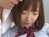 Hardcore Mogami Kasumi blows cock until exhaustion picture 11
