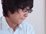 Miyazaki Aya takes a messy cum in mouth