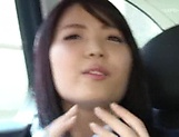 Ishigami Satomi has her shaved pussy streched picture 11