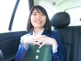 Ishigami Satomi has her shaved pussy streched picture 13
