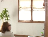 Ishigami Satomi has her shaved pussy streched picture 15