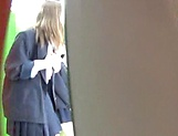Schoolgirls give steamy head and made to swallow