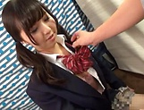 Tiny tits kinky schoolgirl shaved pussy fucked wildly picture 13