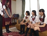 Asian teen babes fucking one large penis good