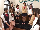 Tokyo schoolgirls show their kinky skills picture 3