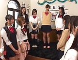 Tokyo schoolgirls show their kinky skills picture 4