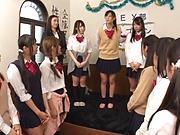 Tokyo schoolgirls show their kinky skills