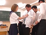 Kinky AV model in a school uniform Shiina Sora fucked in a public place picture 8